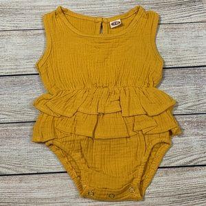 Other - Mustard Ruffle Bodysuit